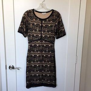 Reiss Lace Jersey Dress US 6